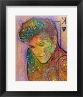 Framed Elvis - King of Hearts