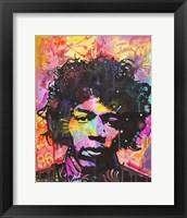 Framed Jimi Hendrix VI