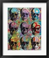Framed 9 Skulls