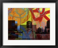 Framed Brooklyn Watertower