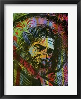 Framed Jerry Garcia Playing