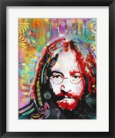 Framed Red Lennon