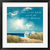 Framed Perfect Day Ocean Breeze