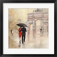 Romantic Paris II Framed Print