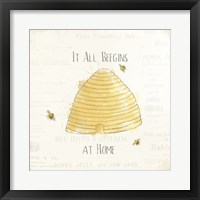 Framed Bee and Bee I