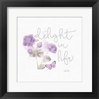Framed Sunny Day VI Purple