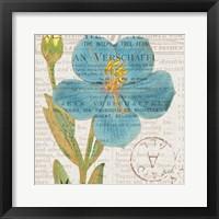 Framed Bookshelf Botanical VI
