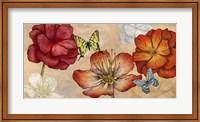 Framed Flowers and Butterflies (Neutral)