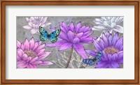 Framed Nympheas and Butterflies (Ash)