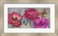 Framed Roses and Butterflies (Ash)