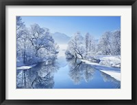 Framed Winter landscape at Loisach, Germany