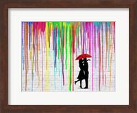 Framed Romance in the Rain