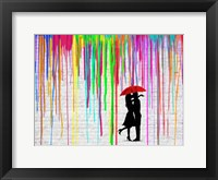 Framed Romance in the Rain