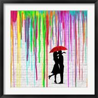 Framed Romance in the Rain (detail)