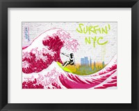 Framed Surfin' NYC
