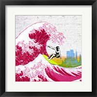Framed Surfin' NYC (detail)