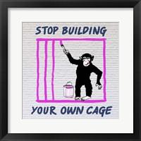 Framed Chimp in Cage