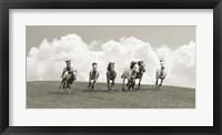 Framed Herd of Wild Horses (BW)