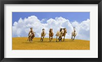 Framed Herd of Wild Horses
