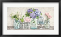 Framed Flowers in Mason Jars