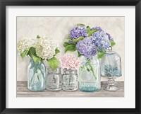 Framed Flowers in Mason Jars (detail)