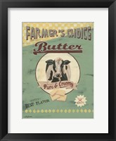 Framed Farmer's Choice Butter
