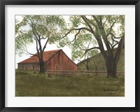 Framed Old Brown Barn