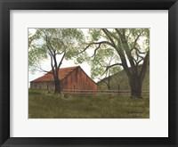 Framed Old Brown Barn