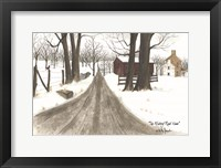 Framed Wintery Road Home