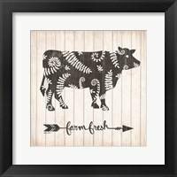 Farm Fresh Cow Framed Print