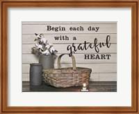 Framed Begin Each Day with a Grateful Heart