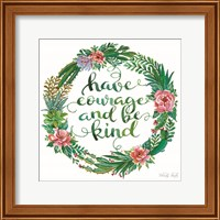Framed Have Courage Succulent Wreath