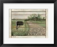 Framed End of a Dirt Road