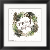 Framed Merry Christmas Wreath