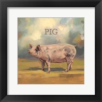 Piper the Pig Framed Print