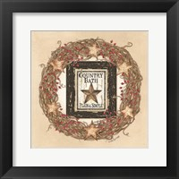 Framed Country Bath Wreath