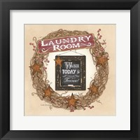 Framed Laundry Room Wreath