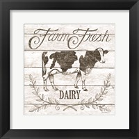 Farm Fresh Dairy Framed Print