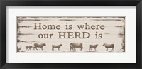 Framed Home is Where Our Herd Is