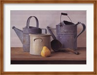 Framed Watering Cans with Pear I