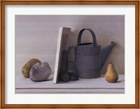 Framed Watering Cans with Pear II
