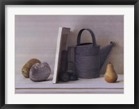 Watering Cans with Pear II Framed Print