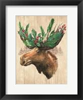 Framed Holiday Moose