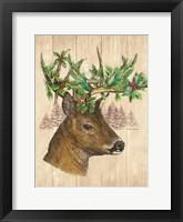 Framed Holiday Deer