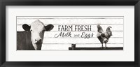 Framed Farm Fresh Milk and Eggs