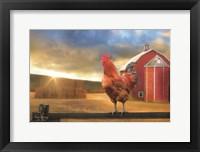 Framed Good Morning Rooster