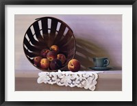 Peaches and a Cup Framed Print
