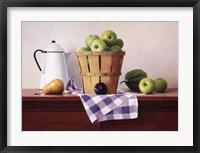 Framed Basket of Green Apples
