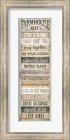 Framed Farmhouse Rules