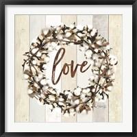 Framed Love Cotton Wreath